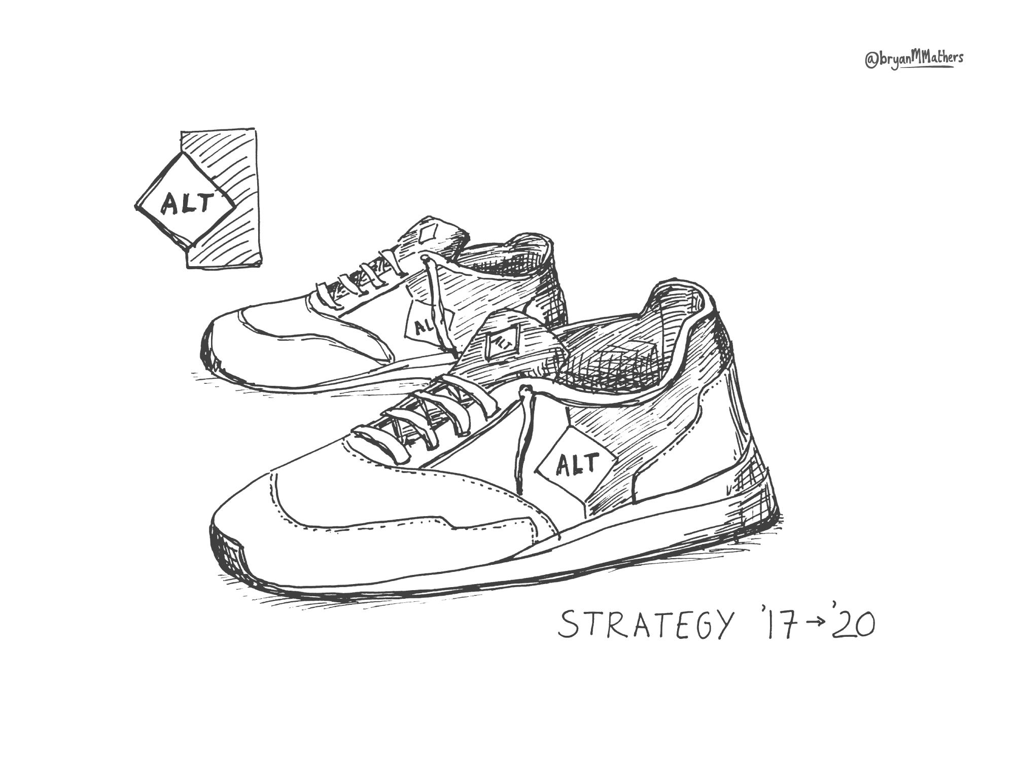 ALT Trainers - sketch