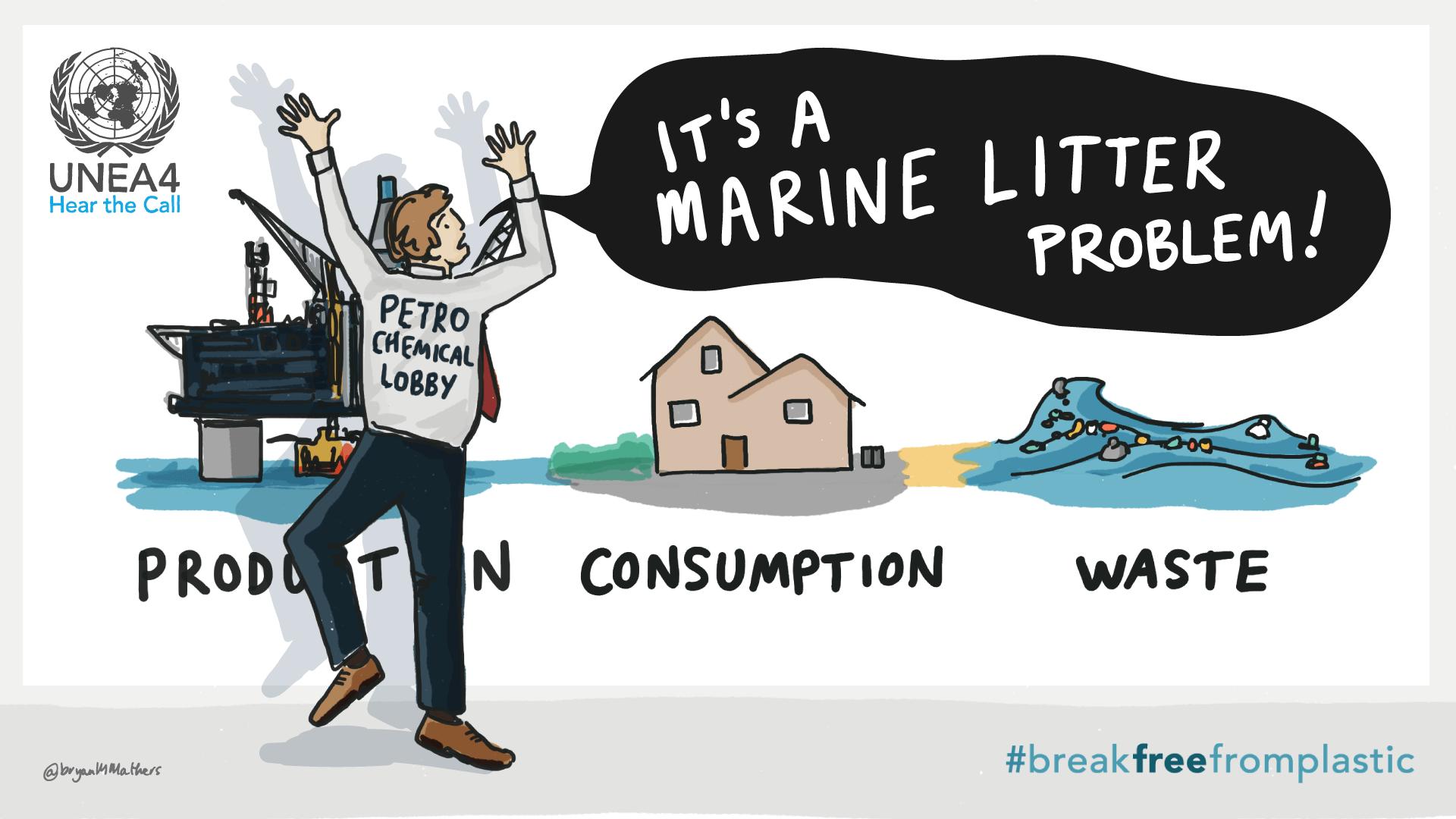 Its a marine litter problem