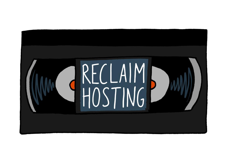 Reclaim Hosting VHS logo
