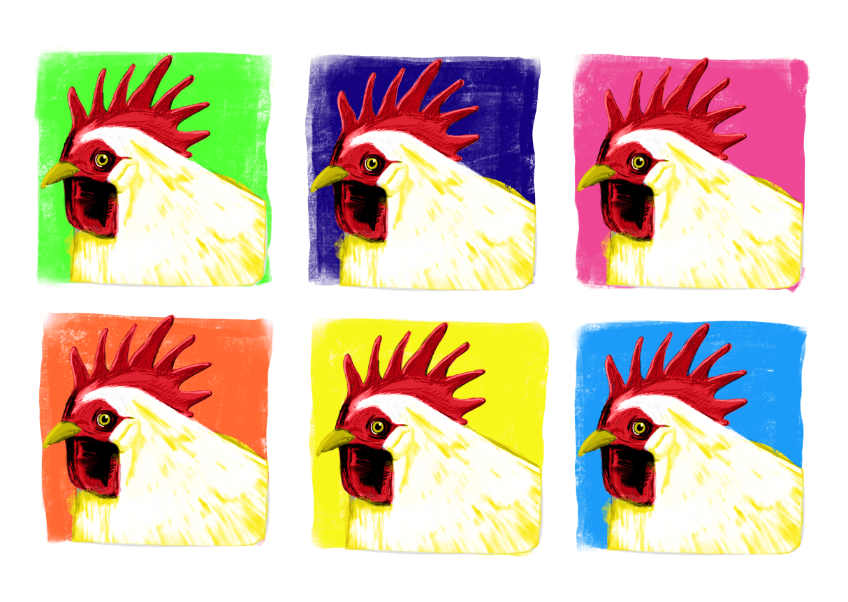 Open ETC - Warhol Rooster